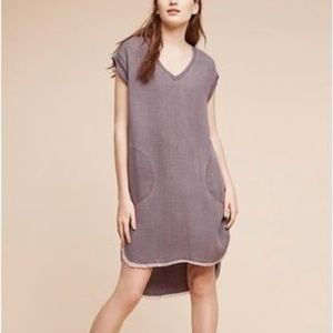 Anthropologie Hi-Lo Grey Tunic Dress Cloth & Stone